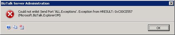 Exception 0xC00CE557