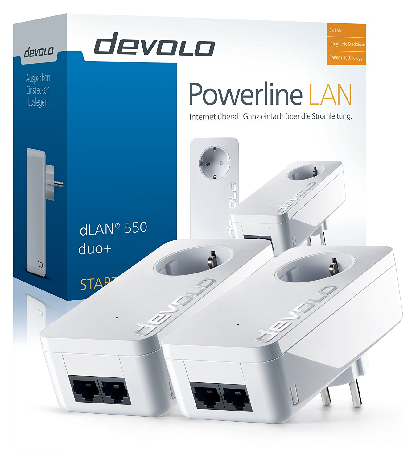 devolo dLAN 550 duo+ Starter Kit Powerline